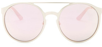 Kenneth Cole Reaction Women's Metal Round Aviator Sunglasses $50 thestylecure.com