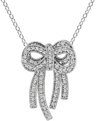 Diamond Select Cuts 14K 0.40 Ct. Tw. Diamond Bow Necklace
