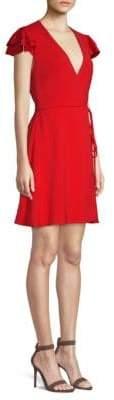 Alice + Olivia Doralee Flutter Sleeve Wrap Dress