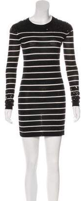 Markus Lupfer Merino Wool Long Sleeve Mini Dress
