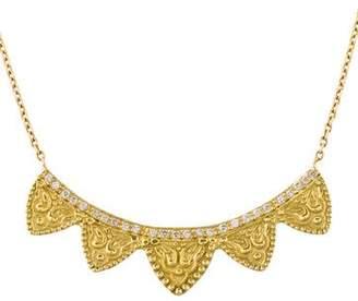 Amrapali 18K Diamond Petal Bar Pendant Necklace