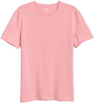 H&M Crew-neck T-shirt Slim fit - Pink