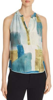 Go Silk Go by Sleeveless Snap-Front Top