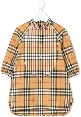 Burberry long-sleeve check shirt dress