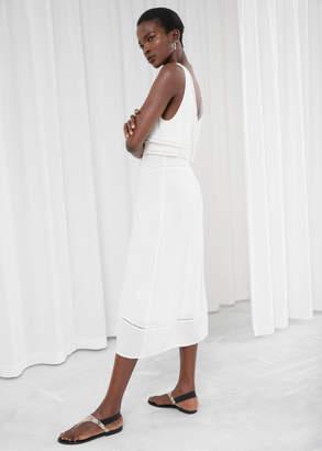 Ribbon Lace Empire Dress