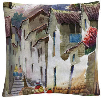 "Baldwin Cuzco I Tuscan Architectural Village 16x16"" Decorative Throw Pillow by Masters Fine Art"