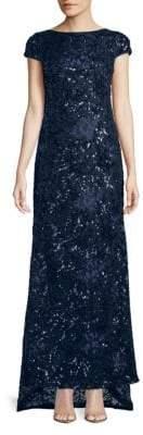 Calvin Klein Sequin Embellished Gown