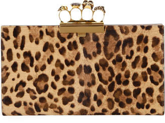 Alexander McQueen Four-Ring Cheetah Clutch Bag