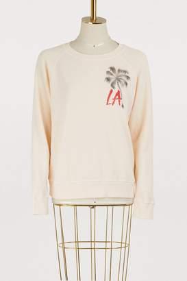 Mother Cotton The square LA palm tree print sweatshirt