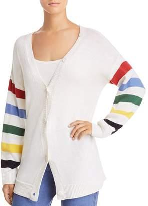 Joie Jewlina Striped-Sleeve Cardigan