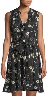 Rachel Roy Brit Sleeveless Floral Georgette Dress