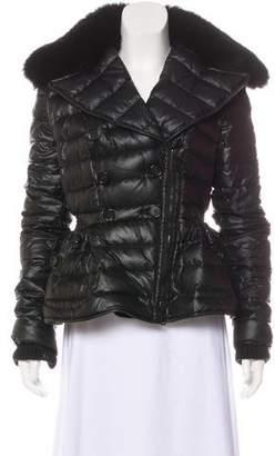 Burberry Fur-Trimmed Down Jacket