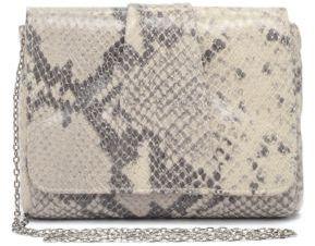 Lauren Merkin Snakeskin-Embossed Leather Crossbody Bag