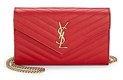Saint Laurent Women's Medium Monogram Matelassé Leather Wallet-On-Chain