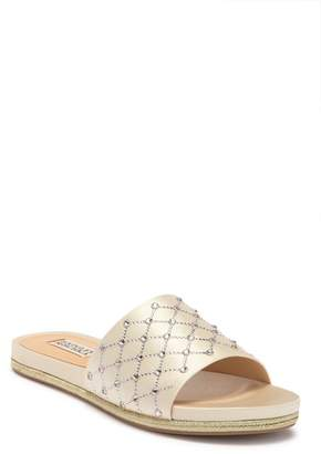 Badgley Mischka Shayna Jeweled Slide Sandal