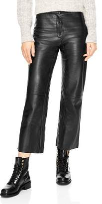Sandro Poésie Leather Crop Pants