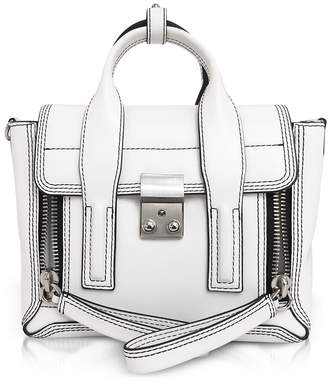 3.1 Phillip Lim Optic White Leather Pashli Mini Satchel