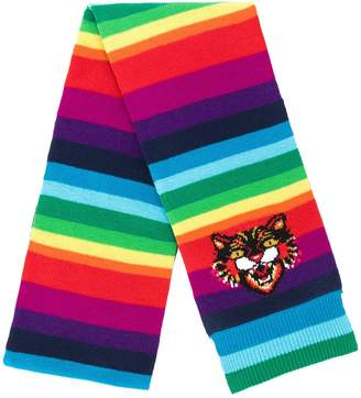 Gucci Angry Cat rainbow scarf