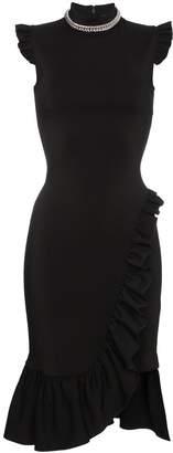 Christopher Kane bodycon frill dress