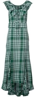 Rosie Assoulin crinkle plaid dress