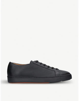 Santoni Low-top leather trainers