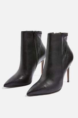 Topshop Hoochie Leather Ankle Boots