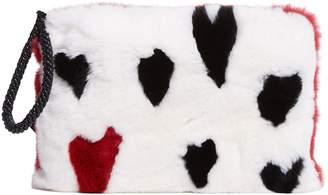 Yves Salomon Rabbit Fur Clutch Bag