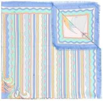 Emilio Pucci wavy print scarf