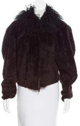 Lanvin Mongolian Lamb-Trimmed Shearling Jacket