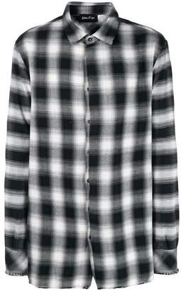 Andrea Ya'aqov plaid frayed hem shirt