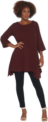 Linea By Louis Dell'olio by Louis Dell'Olio Regular Pebble Crepe Boatneck Tunic