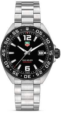 Tag Heuer Formula 1 Watch with Unidirectional Black Titanium Carbide Bezel, 41mm
