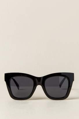 francesca's Juniper Thick Frame Sunglasses - Black