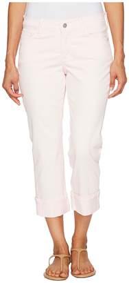 NYDJ Petite Petite Dayla Wide Cuff Capris in Pink Chiffon Women's Jeans