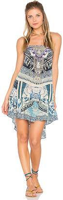 Camilla A Line Frill Dress in Blue $600 thestylecure.com