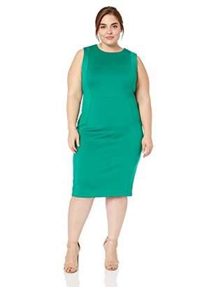 Calvin Klein Women's Plus Size Sleeveless Princess Seamed Sheath Dress