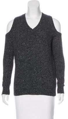 Rebecca Minkoff Wool Cold-Shoulder Sweater