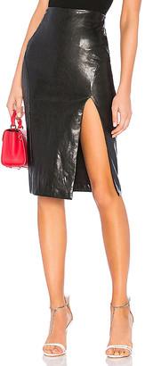superdown Jezabel Faux Leather Midi Skirt