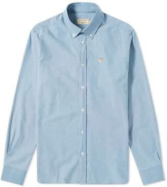 MAISON KITSUNÉ Fox Head Patch Button Down Chambray Shirt