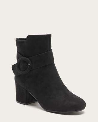 Penningtons Wide-Width Faux Suede Booties with Buckle