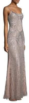 Basix Black Label Sequined Slip Gown