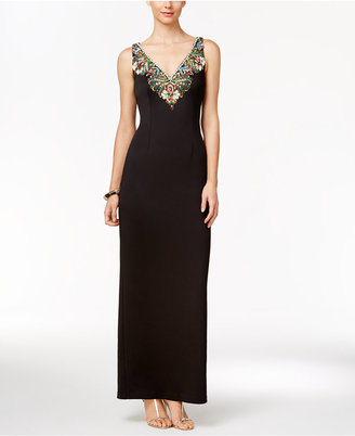 Adrianna Papell Beaded Column Gown $319 thestylecure.com