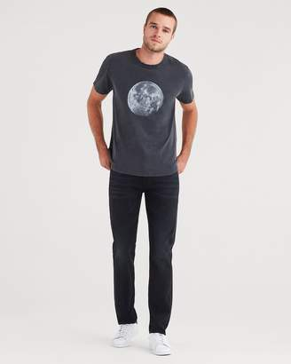 7 For All Mankind Adrien Slim Tapered with Clean Pocket in Envy Black with Tonal Painted Side Stripe