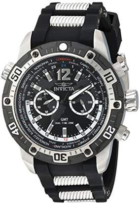 Invicta Men's 'Aviator' Quartz Stainless Steel and Silicone Casual Watch