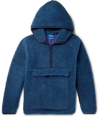 Beams Fleece Hooded Half-Zip Sweater