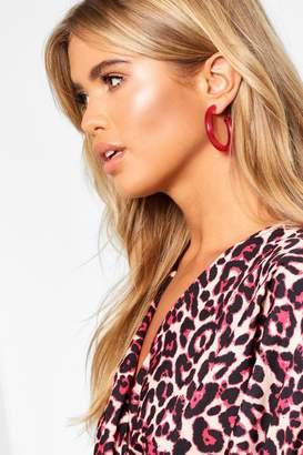 boohoo Transparent Hoop Earrings