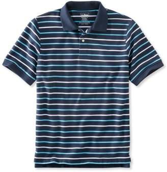 L.L. Bean L.L.Bean Men's Premium Double LA Polo, Banded Short-Sleeve Without Pocket Stripe