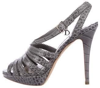 Christian Dior Bonnie Crocodile Sandals