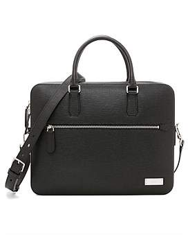 Bally Leather Business Briefcase Bag