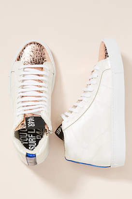 P448 Metallic High-Top Sneakers